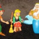Disney PVC Figure Lot Mickey Minnie Mouse Donald Daisy Duck Peter Pan Pinocchio Cinderella Ariel