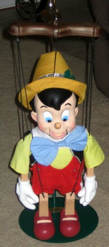 sold pinocchio battery operated marionette puppet telco creations