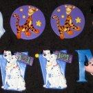 Walt Disney Pin Lot of 7 Mickey Mouse Tigger Pocahontas 101 Dalmations