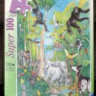 Hide and Seek Jungle Super 100 Piece Jigsaw Puzzle Ravensburger 107346 COMPLETE 1996