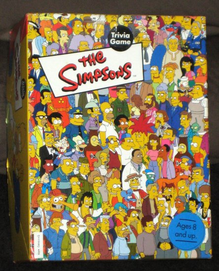 The Simpsons Trivia Game 2001 Cardinal Industries Poster