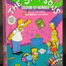 The Simpsons Crayon By Number RoseArt Homer Simpson Marge Bart Lisa Maggie 1990 SEALED 1720