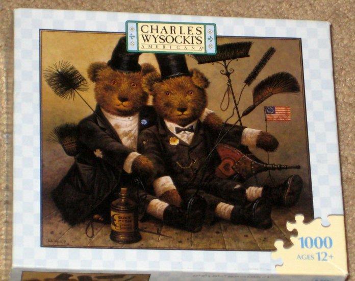 SOLD Charles Wysocki Americana 1000 Piece Jigsaw Puzzle Lot of 5 COMPLETE Milton Bradley MB