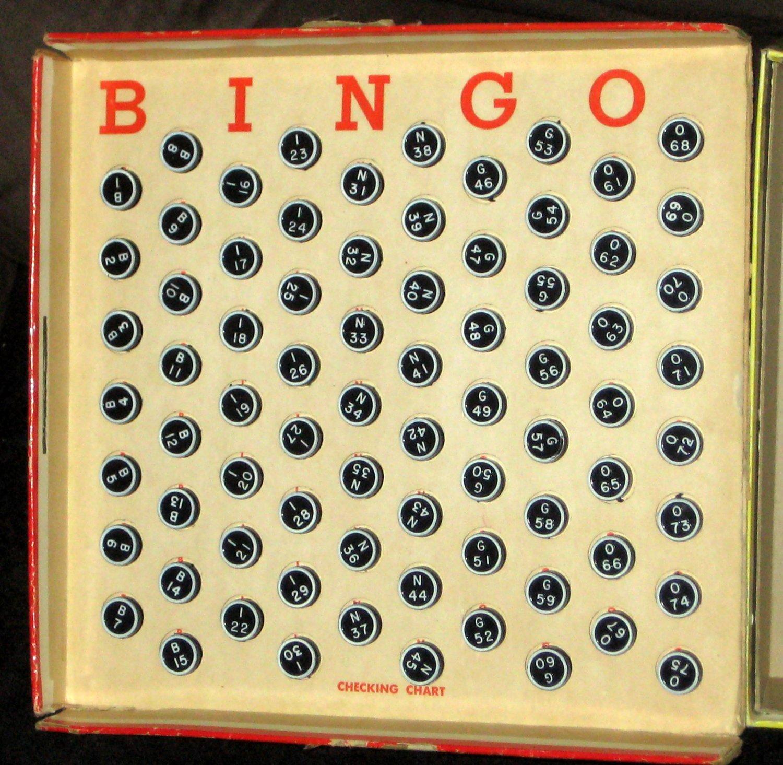 Vintage Whitman 4805 Deluxe Bingo Game with Magic Dispenser 1961