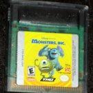 Monsters Inc Nintendo Game Boy Color Cartridge Disney Pixar 2001