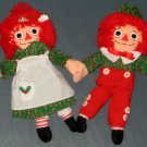 Raggedy Ann & Andy Plush Doll Lot Playskool Applause Christmas Holiday Baby 70227