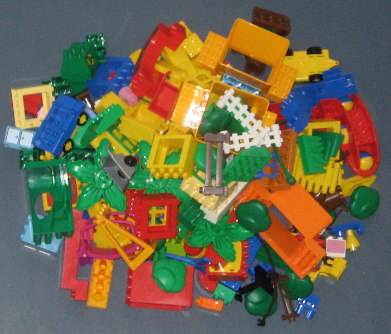 Lego Duplo Lot #6 Vehicles Trees Special Parts Pieces Windows Roadways Fences Kitchen