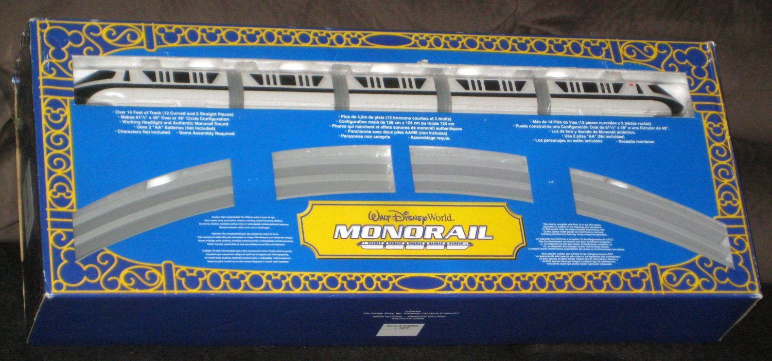 SOLD Walt Disney World Monorail Playset Lot 23684 Black & Red Stripe Theme Park Collection COMPLETE