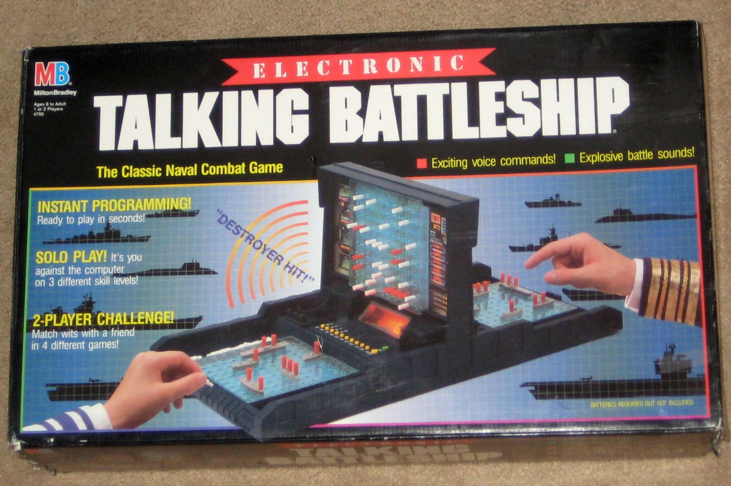 SOLD Open Box never Played Electronic Talking Battleship Game 1989 MB Milton Bradley 4750
