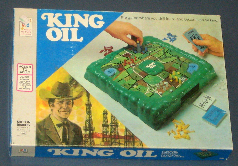 SOLD King Oil Board Game 4410 Milton Bradley Vintage 1974 MB