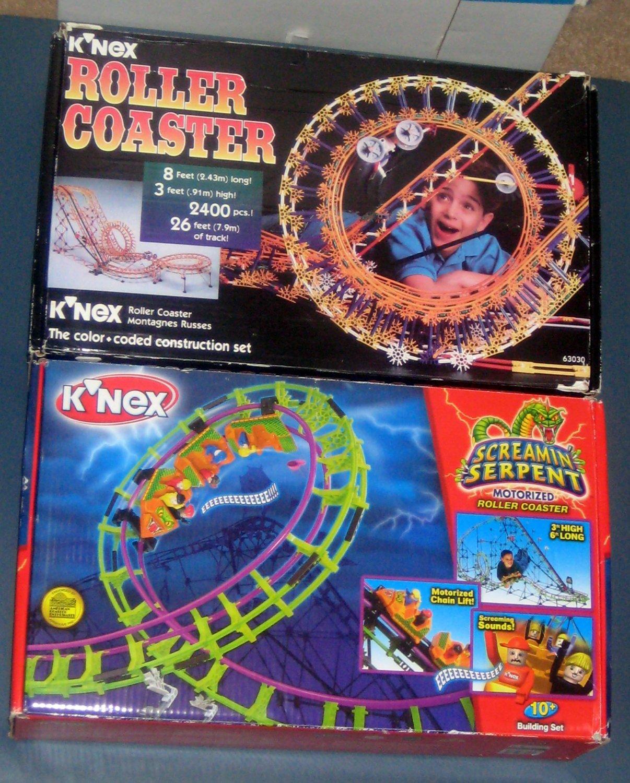 Sold Out K Nex Knex Roller Coaster Lot 63030 63153