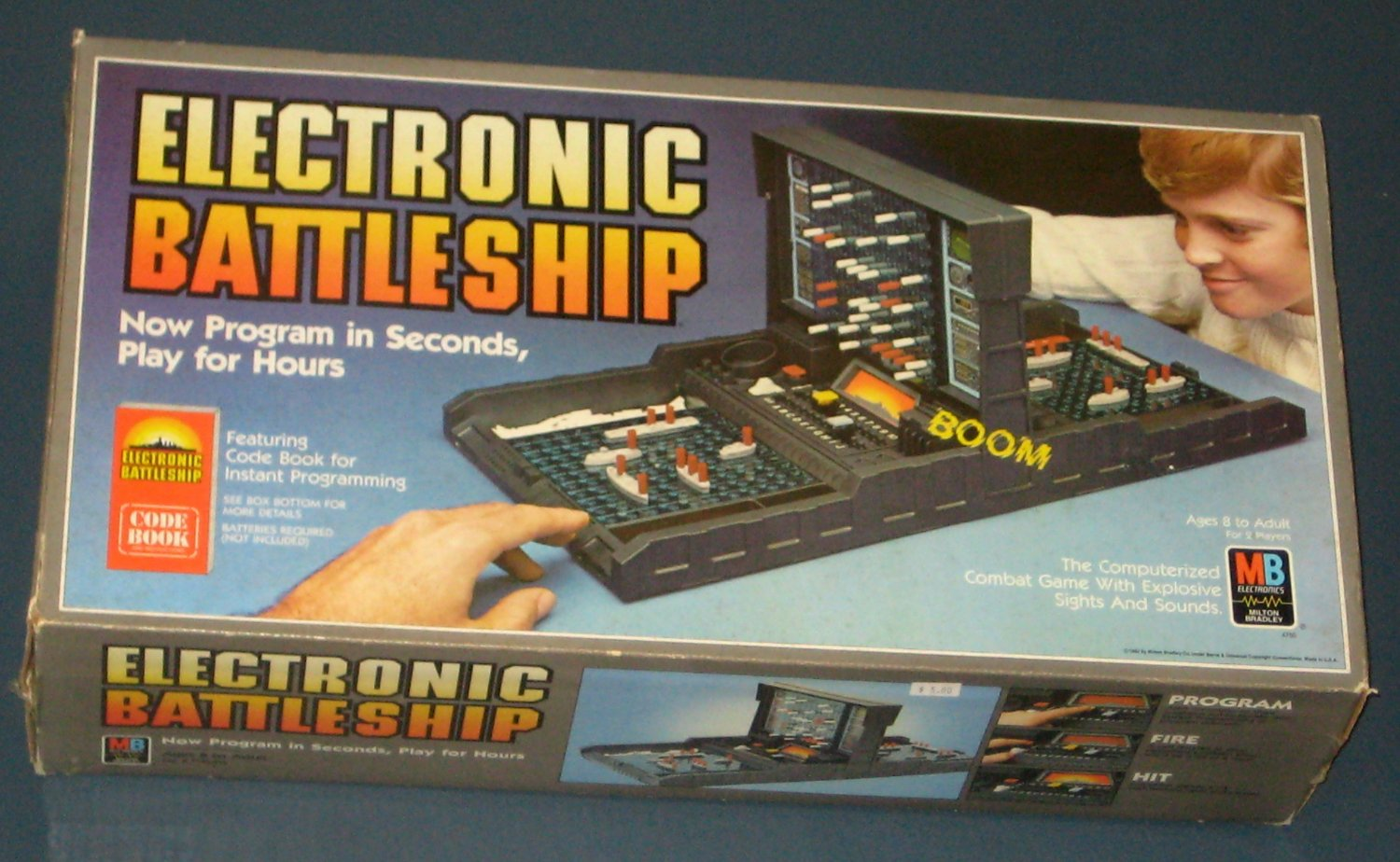 Sold 1982 Electronic Battleship Game 4750 Complete Milton