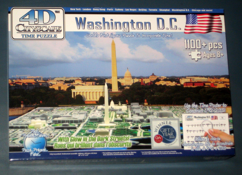 Washington Dc 4d Cityscape Time Jigsaw Puzzle 1100 Pieces