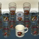 Washington Redskins Drink Glass Mug Stein Lot Drinking Glasses NFL Football Super Bowl 50th