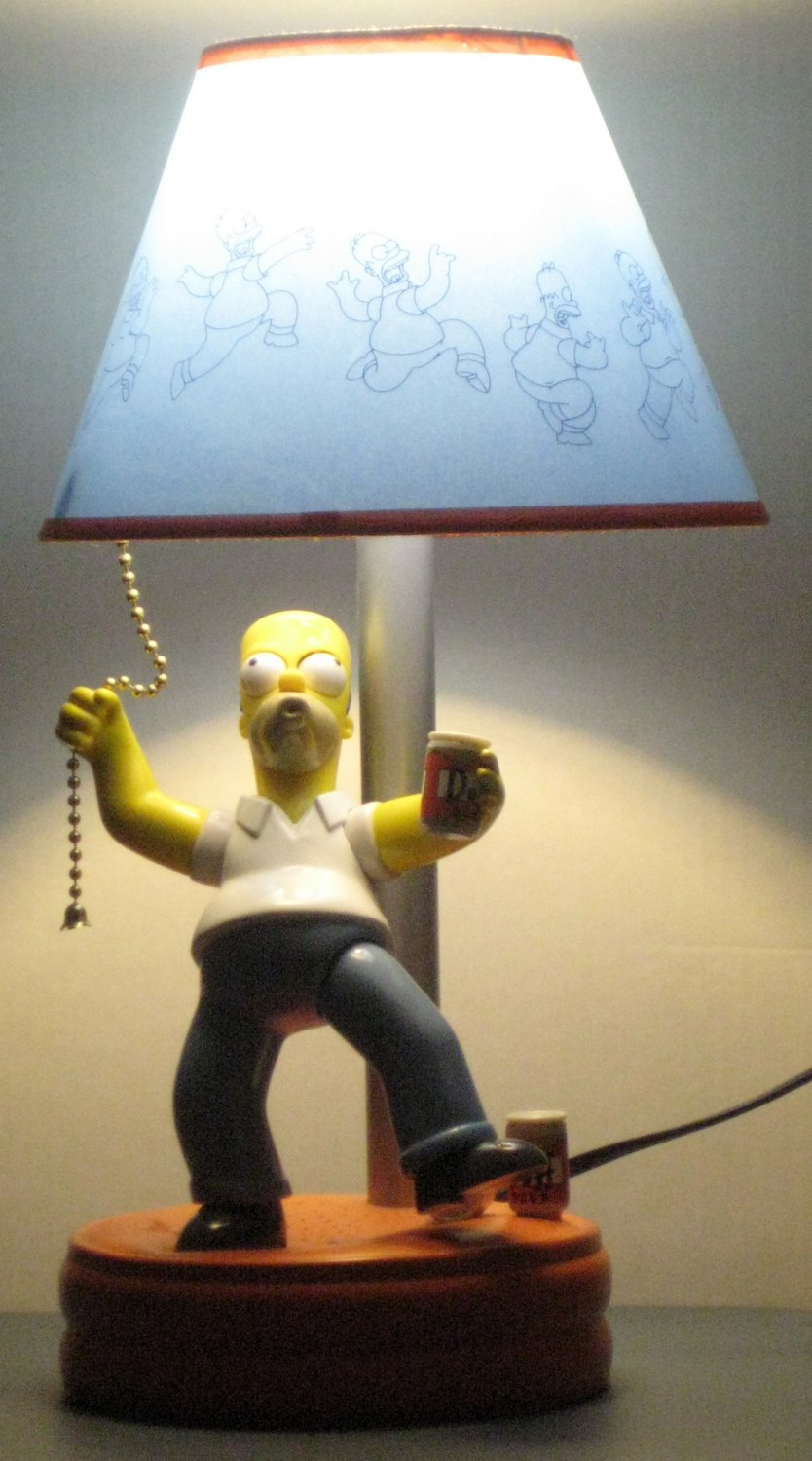 SOLD Homer Simpson Talking Animated Desk Table Lamp Novelty The ...