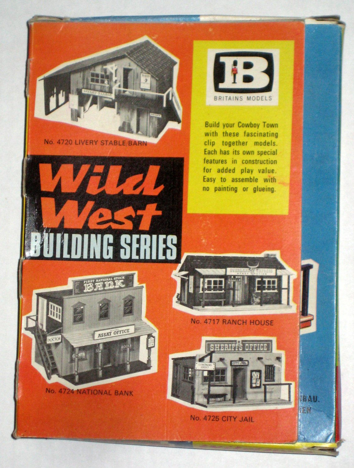 SOLD Britains Models Wild West Building Series City Jail 4725 Make Up Model Box Sheriff's Office