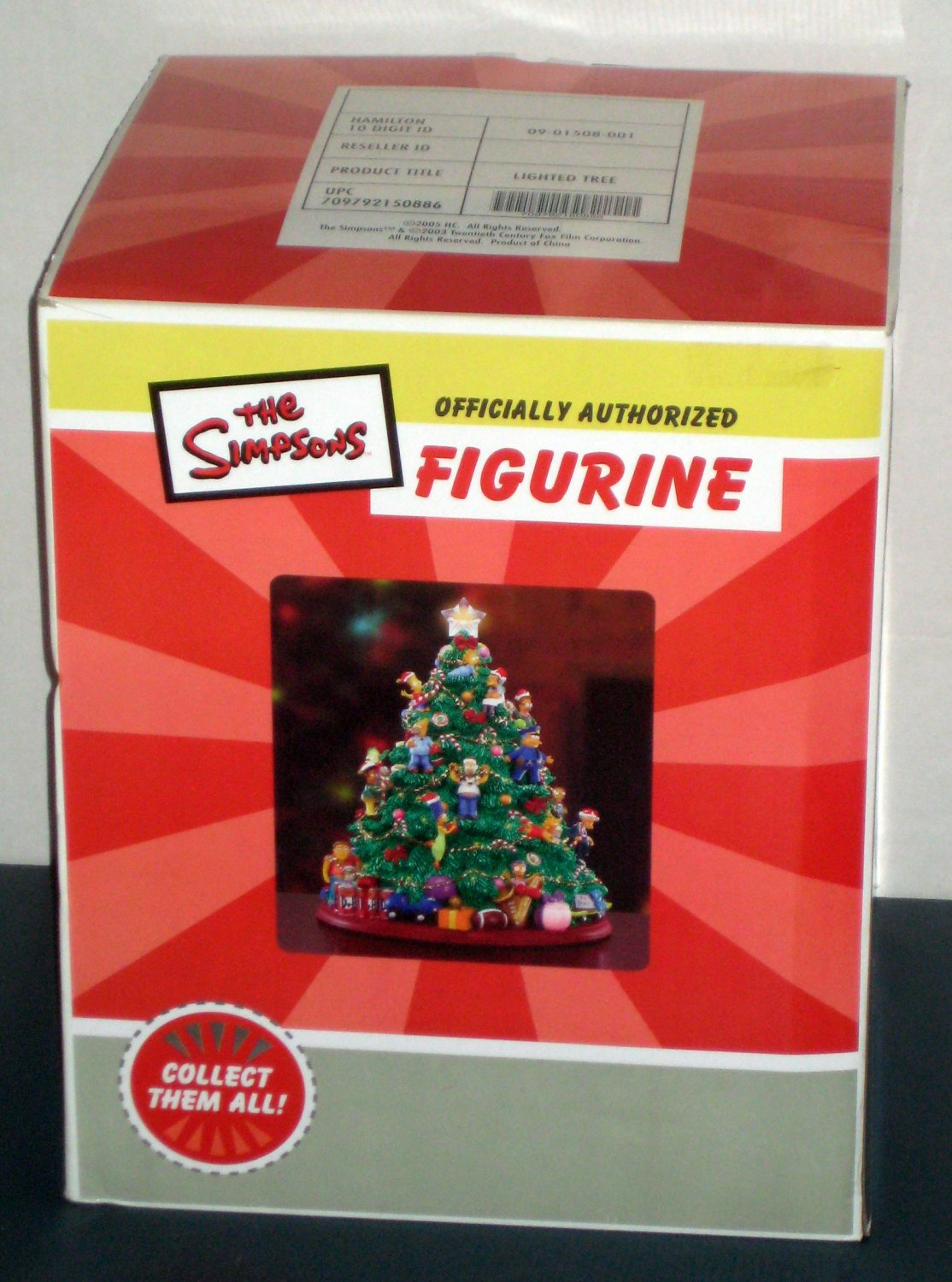 Sold The Simpsons Lighted Christmas Tree With Box Hamilton Collection 26 Characters Fox Tv