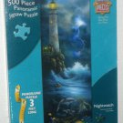 MasterPieces 500 Piece Panoramic Jigsaw Puzzle Nightwatch 30302 Lighthouse SEALED