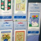 Lot 1 Decorative Garden Flags 5 Different Valentine Spring Birds Ladybug Patriotic 28 x 40 NIP NEW