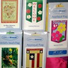 Lot 2 Decorative Garden Flags 5 Different Valentine Americana Daisies Ladybug Patriotic 28 x 40 NIP
