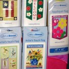 Lot 8 Decorative Garden Flags 5 Different Americana Birds Daisies Patriotic Ladybug 28 x 40 NIP