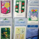 Lot 10 Decorative Garden Flags 5 Different Daisies Birds Welcome Ladybug Bunny 28 x 40 NIP