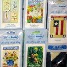 Lot 14 Decorative Garden Flags 5 Different Americana Patriotic Birds Welcome Bunny 28 x 40 NIP