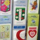 Lot 16 Decorative Garden Flags 5 Different Ladybug Birds Daisies Heart Butterfly 28 x 40 11 x 15 NIP
