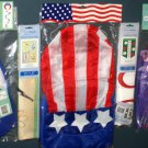 Lot 22 Decorative Garden Flags (2) + Wind Twirlers Spinners (2) + Windsock (1) Easter Patriotic NIP