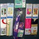 Lot 23 Decorative Garden Flags (4) + Wind Twirler Spinner (1) Birds Ladybug Easter Americana NIP