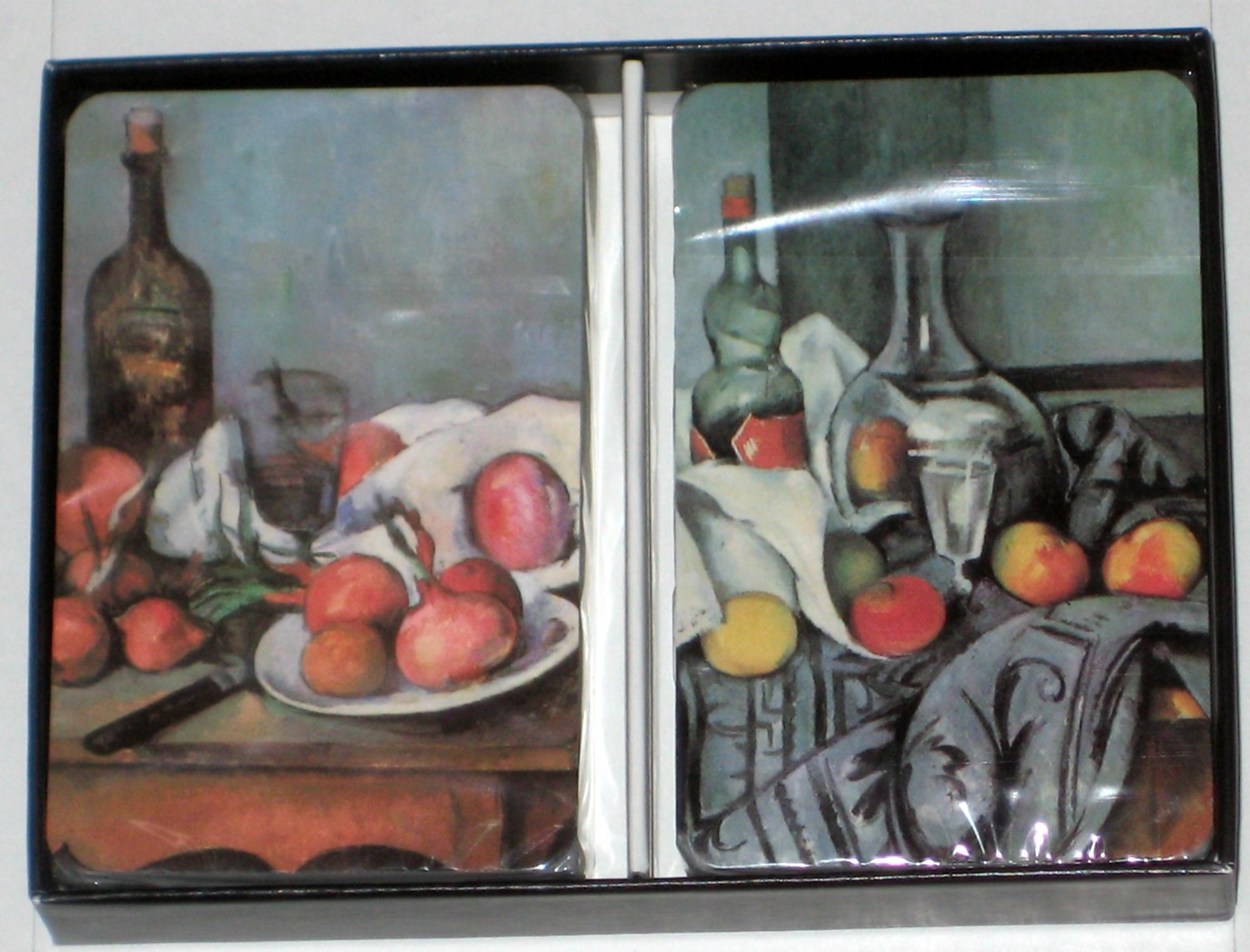 Paul Cezanne Playing Cards 2 Decks in Box Still Life With Red Onions Bottle Jug SEALED Belgium 1995