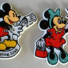 Mickey Minnie Mouse Donald Duck Refrigerator Magnet Lot Coupons Shopping List Walt Disney