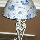 Mickey & Minnie Mouse Blue Toile Table Desk Lamp Walt Disney NIB