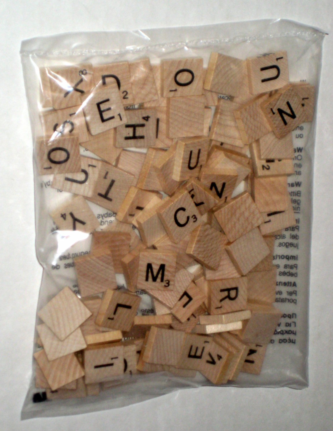 Sold New Factory Sealed 100 Natural Wood Scrabble