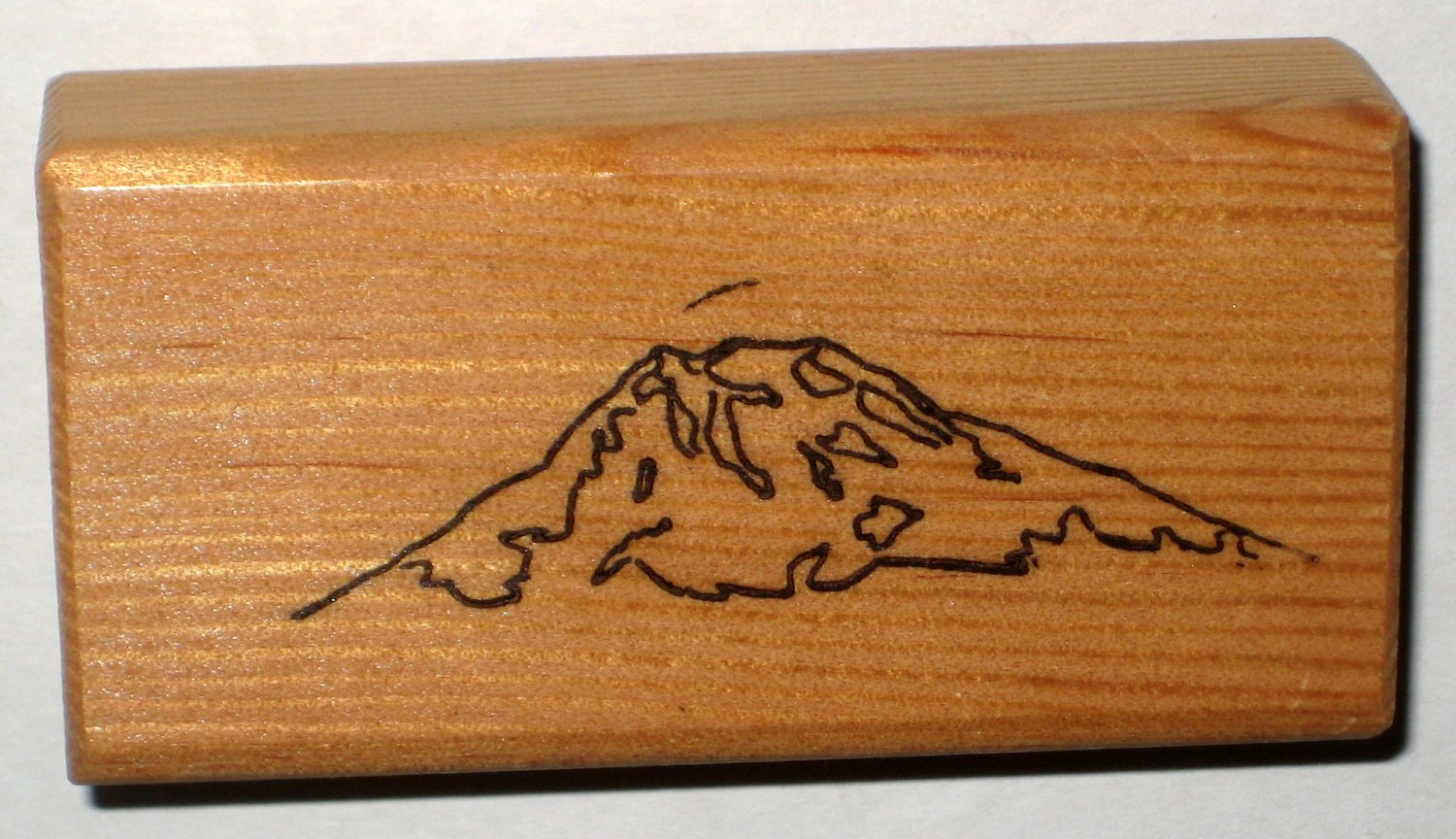 Mountain Mountainside Rubber Stamp Stamper Wood Mounted