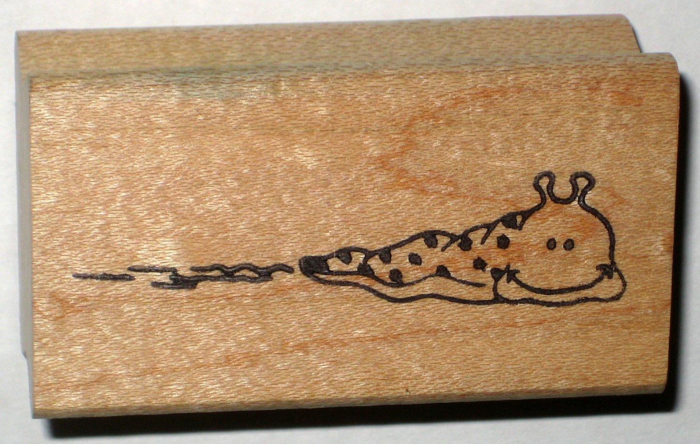 Slug Snail Rubber Stamp Stamper Wood Mounted Great Impressions 1989