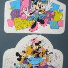 Walt Disney Vinyl Placemat Lot Place Mat Mickey Mouse Minnie Goofy Donald Duck Piano