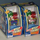 M&Ms Wild Thing Roller Coaster Candy Dispensers Blue Version Silver Variant Green Red Characters