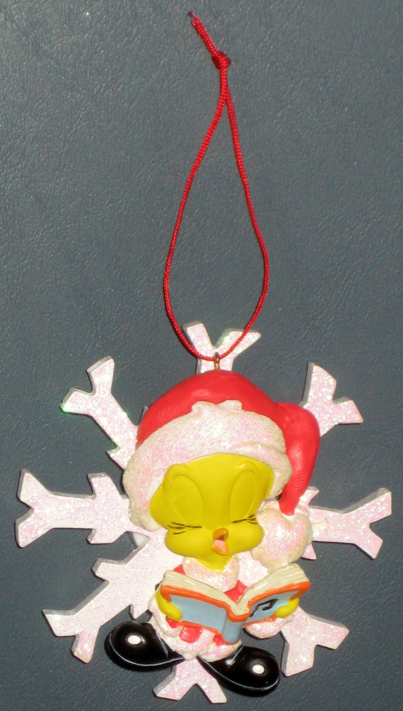Musical Tweety Pie Bird Christmas Caroler Ornament Looney Tunes Warner Bros 1998