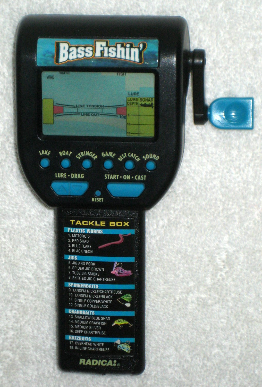 sold bass fishin 39 electronic handheld game radica 1996