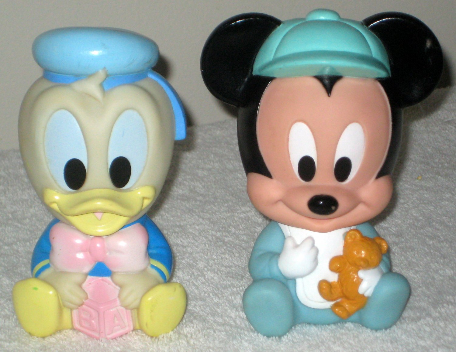 Sold Baby Mickey Mouse Amp Donald Duck Vinyl Squeak Squeaky