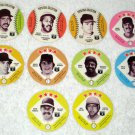 Baseball Player Photo Card Disc Lot Disk Pepsi Cola Tastee Freez Nolan Ryan 1977 1978