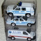 Golden Wheels 1:64 Scale NYPD New York City Police Ambulance Crown Victoria Chevy Ford Diecast Cars