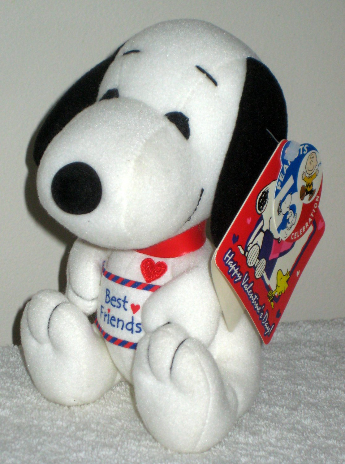 Sold Baby Snoopy Plush Doll Squeak Toy Best Friends 50th