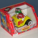 M&Ms Rebel Without a Clue Candy Dispenser Yellow Hot Rod Green Red Characters NIB