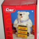 Coca-Cola Ceramic Cookie Jar Polar Bear Delivery Coke Gibson Overseas 2001 NIB