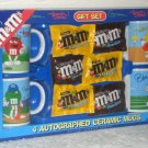 M&M's Characters 4 Mug Gift Set Sports Red Green Yellow Blue Baseball Football Golf Basketball NIP