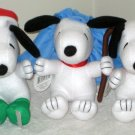 "Snoopy 6"" Plush Christmas Holiday Lot Hallmark Peanuts Gang Tis the Season Skatin Little Shepherd"