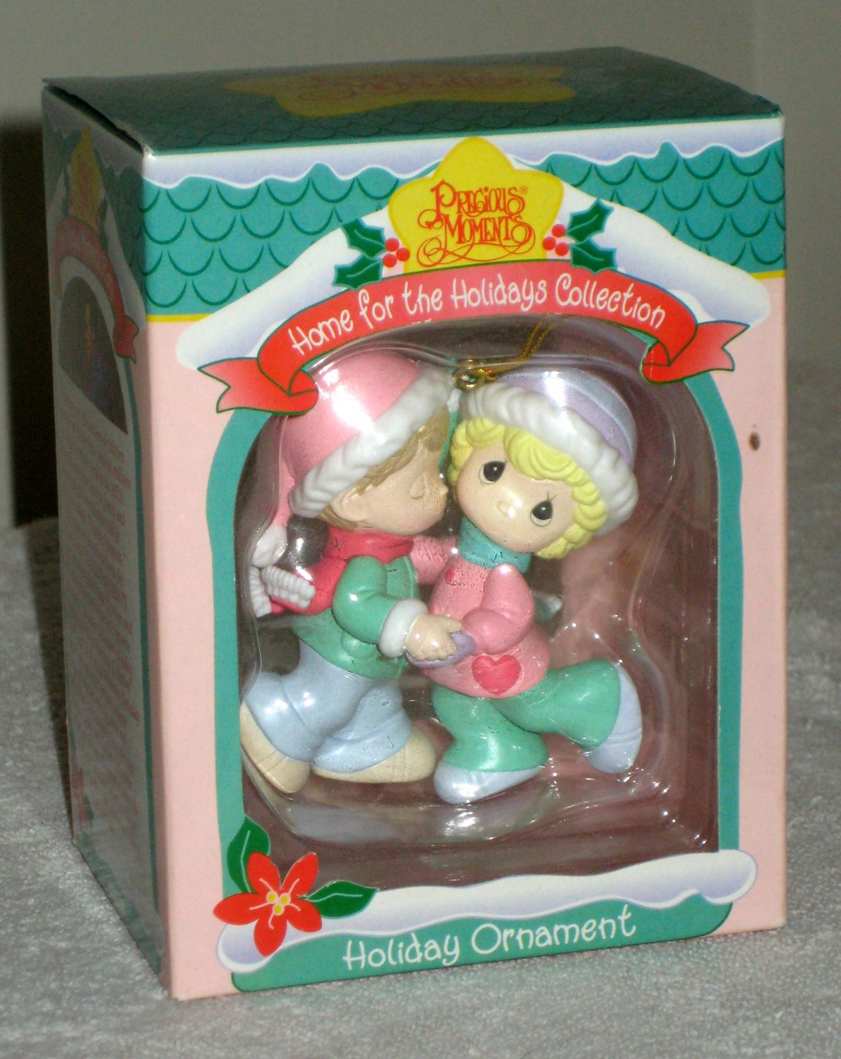 precious moments christmas tree ornament 266094 home for the holidays collection enesco boy girl nib - Precious Moments Christmas Ornaments