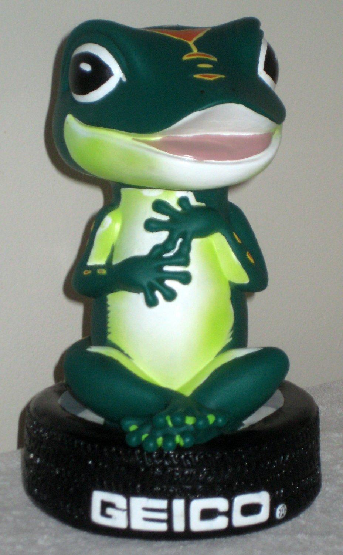 Fisher Auto Sales >> GEICO Lot Gecko Plastic Piggy Coin Bank Caveman Cave Man Bobblehead Tire Lizard Green Auto Insurance